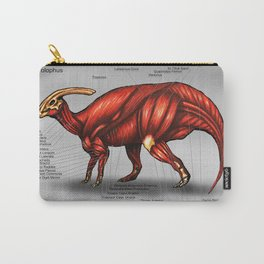 Parasaurolophus Muscle Study Carry-All Pouch