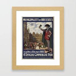 Vintage poster - Brussels Framed Art Print