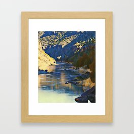 Rio Grande at the John Dunn Bridge on a Winters Day by CheyAnne Sexton Framed Art Print