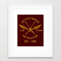 quidditch Framed Art Prints featuring Abercrombie & Quidditch by spacemonkeydr