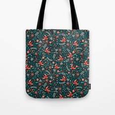 Flying Swallows Tote Bag