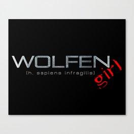 Wolfen Girl Canvas Print
