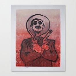 Dia de los Muertos - Gunslinger  Canvas Print
