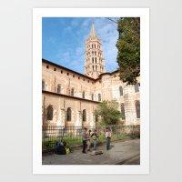 La basilique Saint Sernin en musique  Art Print