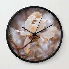 Magnolia Blossom Wall Clock