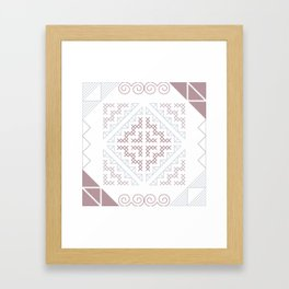 Tribal Hmong Embroidery Framed Art Print