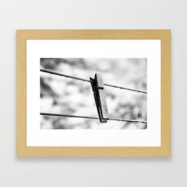 No Laundry Today Framed Art Print