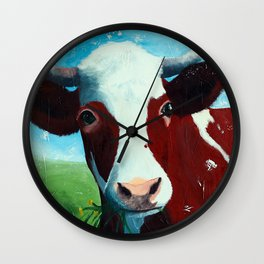 Animal - Daisy the Cow - by LiliFlore Wall Clock