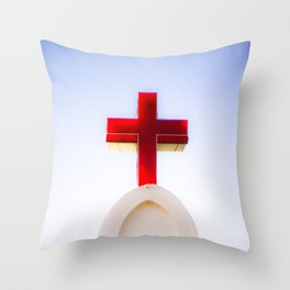 St. Anthony's Church in, Anjuna, Goa, India Throw Pillow