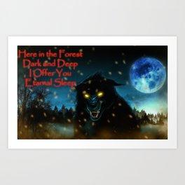 Wolf alone Art Print