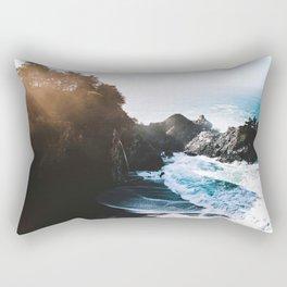 Cliff, Wave, and Beach Rectangular Pillow