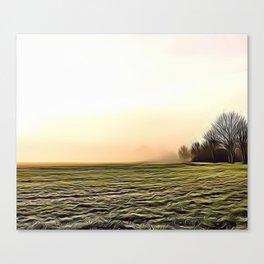 Creamy Fog Airbrush Artwork Canvas Print