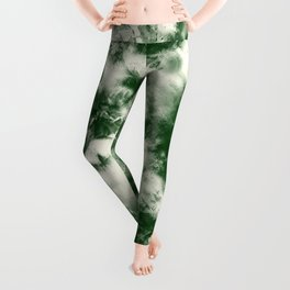 Green Tie Dye & Batik Leggings