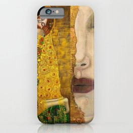 Gustav Klimt portrait The Kiss & The Golden Tears (Freya's Tears) No. 1 iPhone Case