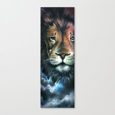 Lion in the Clouds Canvas Print