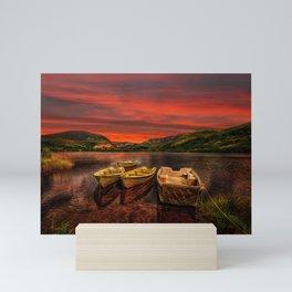 Llyn Nantlle Uchaf  Snowdonia Mini Art Print