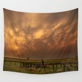 Afterglow - Clouds Glow After Storms at Sunset Wall Tapestry