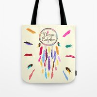 dreamcatcher Tote Bags featuring Dreamcatcher by O. Be
