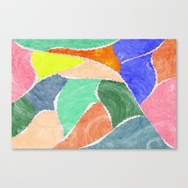 smeared patches Canvas Print