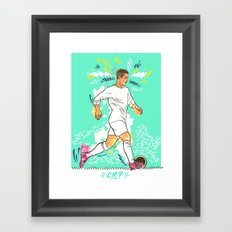 CR7 Framed Art Print