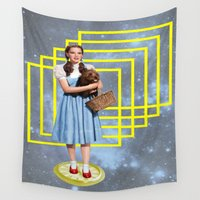political Wall Tapestries featuring Yellow brick road by Laura Nadeszhda