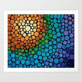 Blissful - Colorful Mosaic Art - Sharon Cummings Art Print