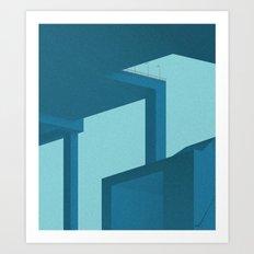 Geometric glimpses Art Print