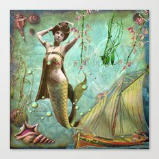 Life in the deep blue sea Canvas Print
