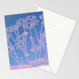 Daisies in the clouds Stationery Cards