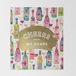 Cheers My Dears – Gold Throw Blanket