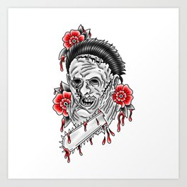 Bloody Leatherface Art Print