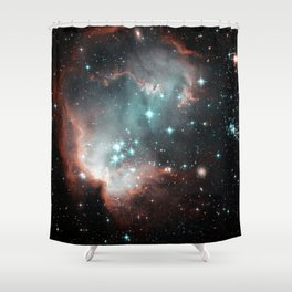 Nebula and stars Shower Curtain