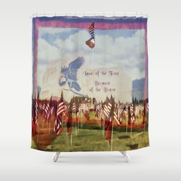 Land Of The Free Because Of The Brave Shower Curtain