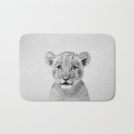 Baby Lion - Black & White Bath Mat