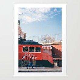 Capitol Diner - Lynn  MA Art Print