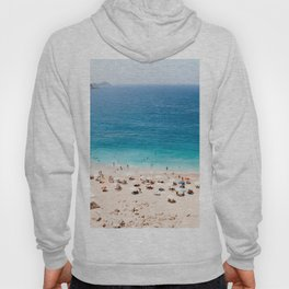 Beach, Coastal, Ocean, Sea, Water, Nature, Modern, Minimal, Interior, Wall art Hoody