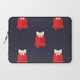 Red Christmas Bell Pattern Laptop Sleeve