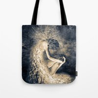 introvert Tote Bags featuring introvert. by Viviana Gonzalez
