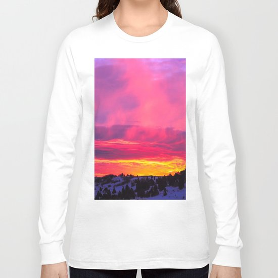 Sunset over the Artic Long Sleeve T-shirt