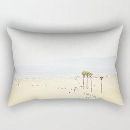 Beach Bike Path Rectangular Pillow