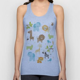 Jungle Animals Unisex Tank Top