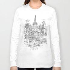 Paris! B&W Long Sleeve T-shirt