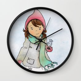 Winter Friends Wall Clock