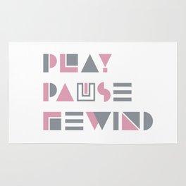 Play, Pause, Rewind Rug
