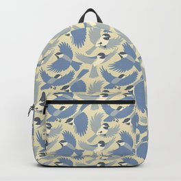 Chickadees  in Blue Backpack