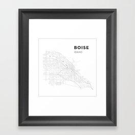 BOISE Map Print Framed Art Print