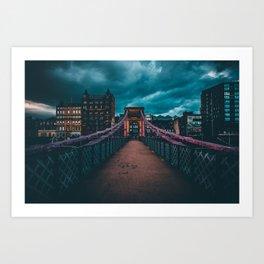 Bridging The Gap. Art Print