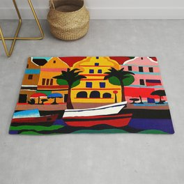 Curacao Vintage Travel Poster Rug