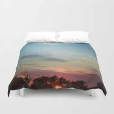Dark Clouds File in When the Moon is Near Duvet Cover