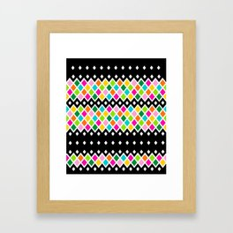 DIAMOND - Black Framed Art Print